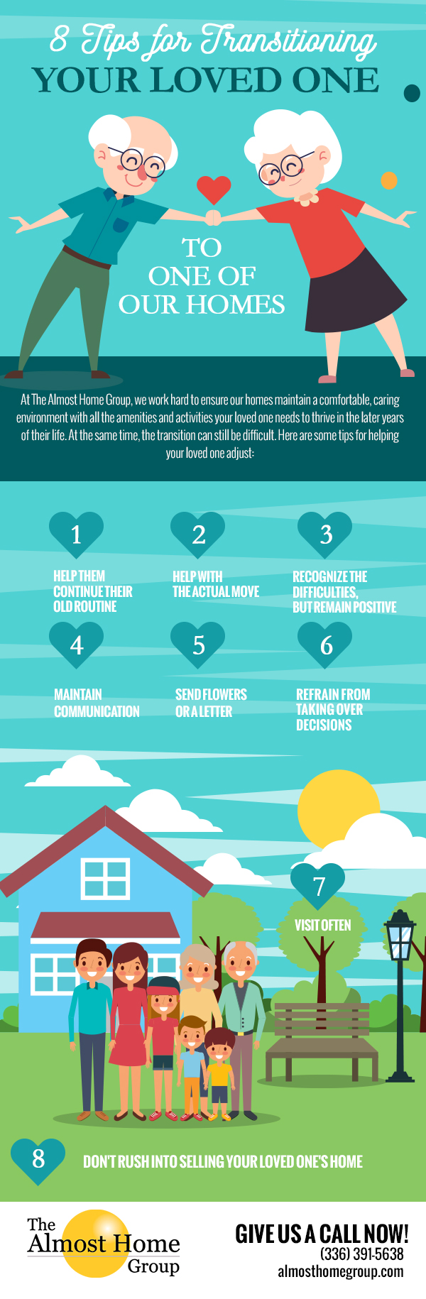 8 Tips for Transitioning Your Loved One to One of Our Homes [infographic]